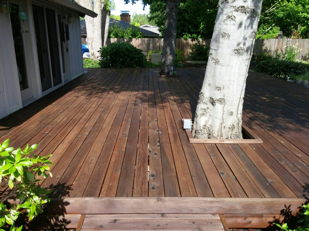 Deck cleaning & sealing Fair Oaks, CA